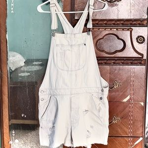 Bleached jean overalls-American Eagle
